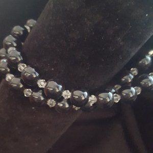 Black & Silver Clasp Bracelet J-552